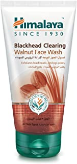 Himalaya Blackhead Clearing Walnut Face Wash Exfoliates Blackheads and Unclogs Pores While Keeping Your Skin Nourished and...