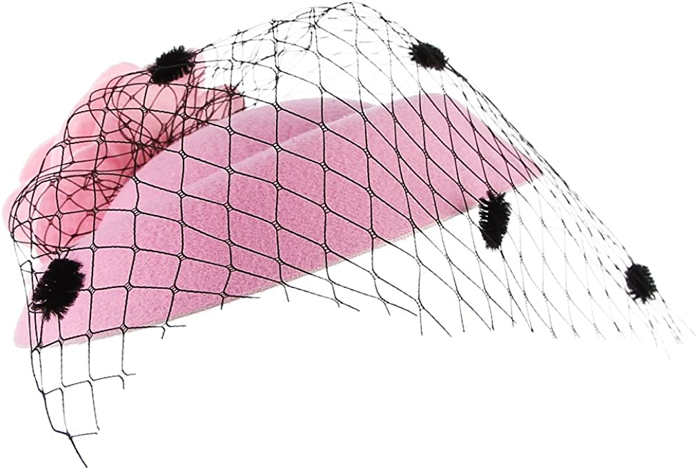 Gemive Women Feather Hair Clip Fascinators Hat Net Yran Mini Top Hat