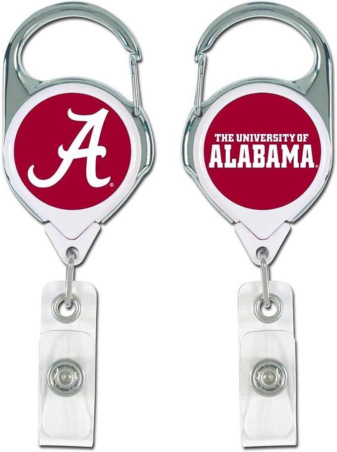 Alabama Crimson Tide Inspired Retractable Badge Reel with Swivel Spring Alligator Clip