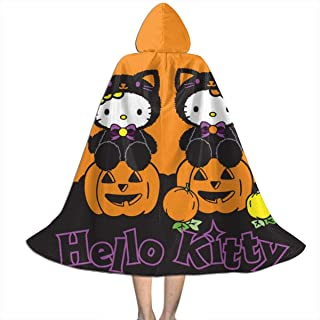 Hello Kitty Halloween Hooded Cape for Kids Children's Cloak with Hood for Halloween Role Play Devil Vampire Wizard