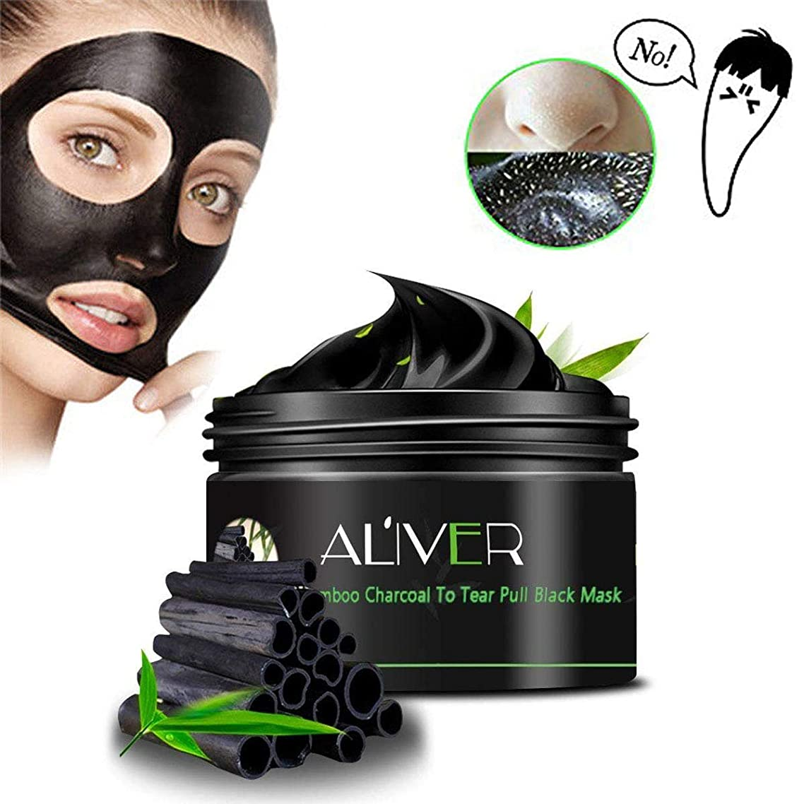 Blackhead Remover Mask,Natural Activated Charcoal Purifying Acne Black Face Mask Deep Cleansing Peel off Purifying Face Mask for Men and Women 3.4 Ounce