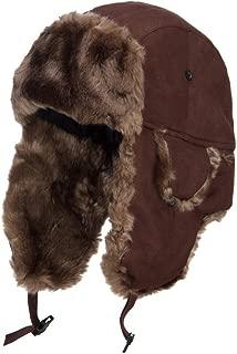 City Hunter Suede Solid Faux Fur Trooper Hat