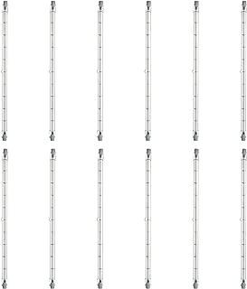 Sunlite Q1000T3/CL/240V/12PK Halogen 1000W 240V T3 Double Ended Capsule Light Bulbs, Clear Finish, 3200K Bright White RSC Base, 12 Pack