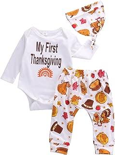 Thanksgiving Gift Infant Baby Boy Girl Clothes Romper Pants Leggings 3PCS