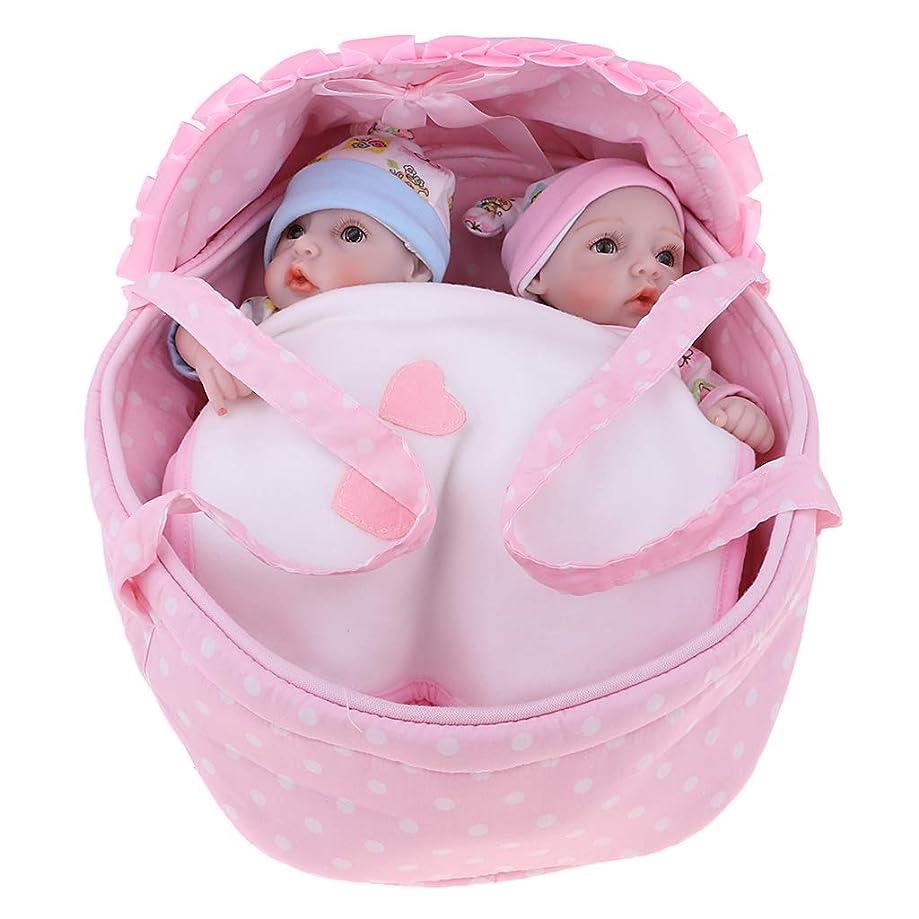 約設定組み立てるピックD DOLITY 人形 リボーン ベビードール 赤ちゃん 女の子 シリコーン バスケット キルト おもちゃ 28cm
