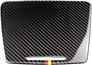 Car Carbon Fiber Interior Water Cup Holder Panel Cover Trim Car Sticker For Mercedes C Class W205 C180 C200 GLC Accessories