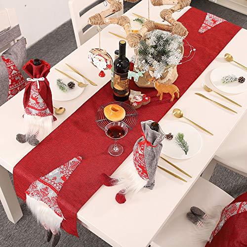 VKTY Camino de mesa de Navidad con diseño de Papá Noel, mantel ...