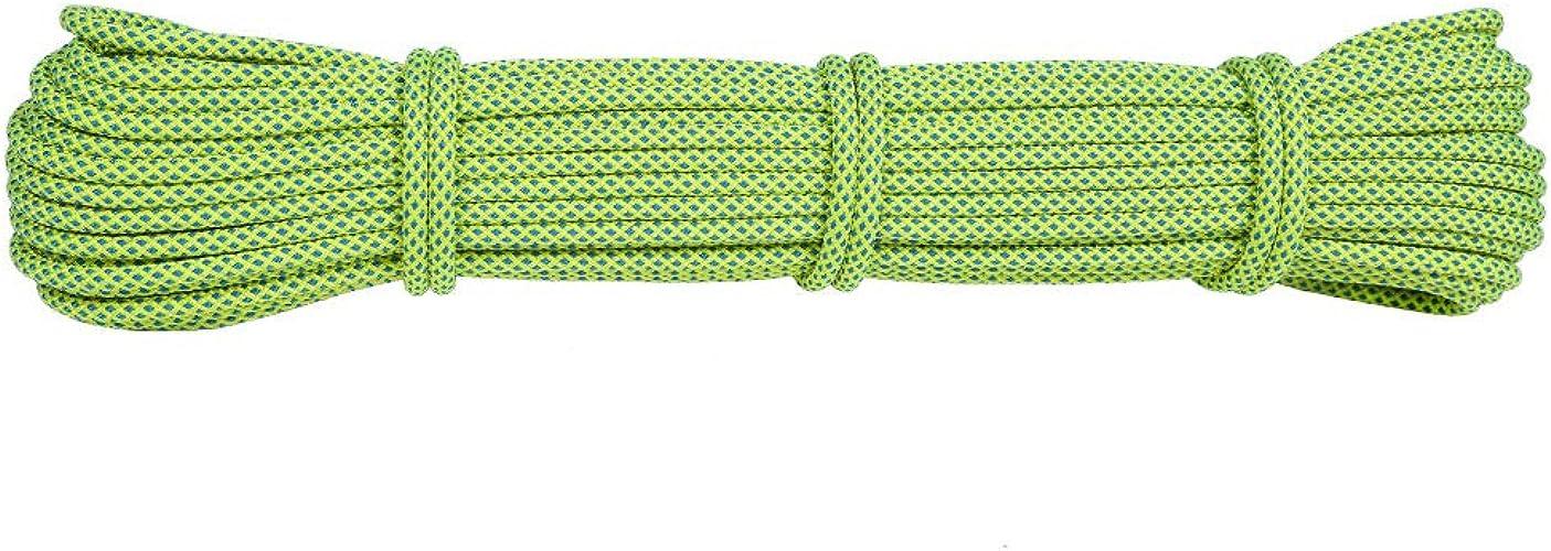 LLXYM 6Mm Grab Corde Noeud Corde Cordage Corde Parapluie Cordage Corde Escalade Fournitures Escalade Corde Auxiliaire,1,6Mm25m
