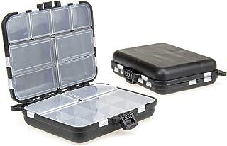 Köderbox Kleinteilebox mit separaten Fächern Angelbox Fliegenbox 12x10,5x3,3cm