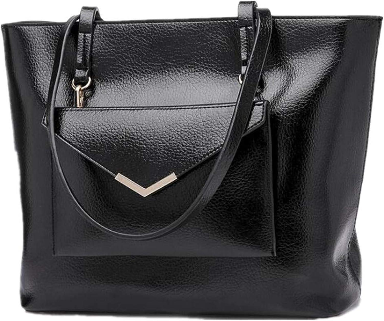 NZZNB Large-Capacity Ladies'Handbag, Single Shoulder Bag, Simple Oblique Bag, Handbag and Purse Top-Handle Handbags