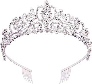 Didder Silver Crystal Tiara Crowns For Women Girls Princess Elegant Crown with Combs Women`s Headbands Bridal Wedding Prom...