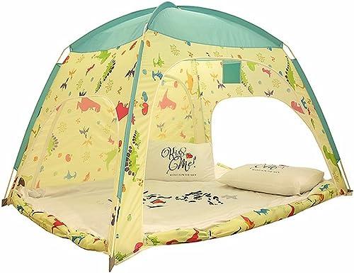 Kinder-Spiel-Zelt-Karikatur-Dinosaurier-Muster-gelbe W e, die Ozean-Kugel-Haus-Innen- und im Freienspielzeug-Größe Zelt-Strand-Zelte modelliert (enth  nicht Kissen und andere Dekorationen)