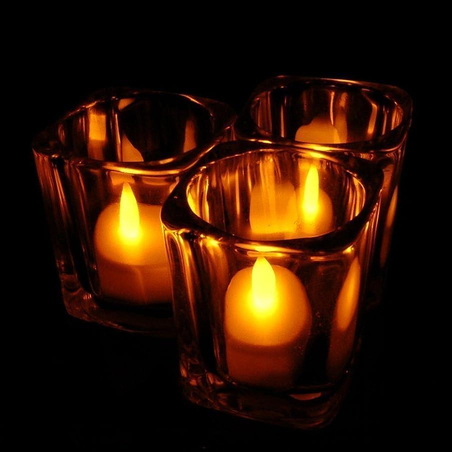 おいしい試してみる勧めるホット24ピースledティーライトキャンドルhouseholed velas ledバッテリ駆動フレームレスキャンドル教会とホームdecoartionと照明