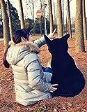 Kenmont Süße Katze Form Kissen Weichem Plüsch kissenpolster Sofa Baumwolle Plüschtiere für Haus Dekoration Entspannen Sie sich und Kinder Mädchen Geschenke (Schwarz, 45cm) - 4