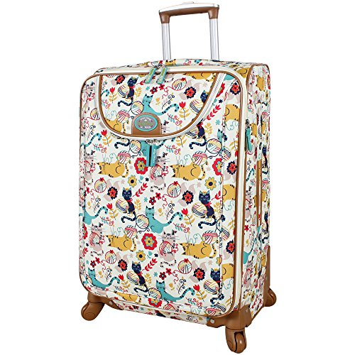 Lily Bloom Luggage 24' Expandable Design Pattern Suitcase With Spinner Wheels For Woman (24in, Furry Friends)