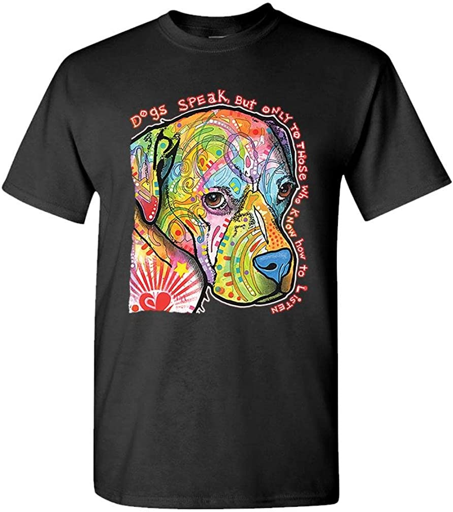 The Goozler Dogs Speak to Those WHO Listen - Russo - Mens Cotton T-Shirt
