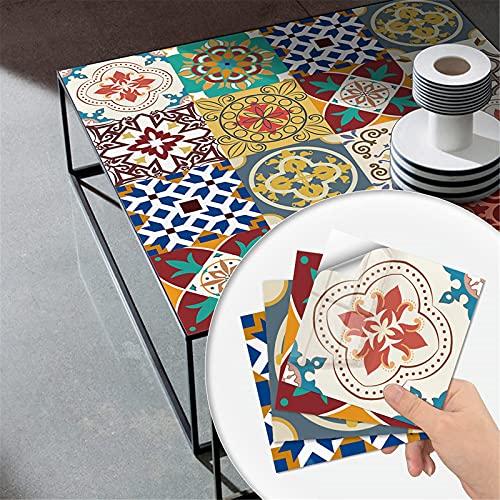 Protector contra salpicaduras de azulejos para despegar y pegar, 10 piezas, 3 tamaños y varios colores, adhesivos para azulejos, adhesivo decorativo autoadhesivo para pared, decoración del hogar
