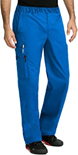 Med Couture MC2 by Men's Red Alert Tactical 8709 Zip Fly Cargo Scrub Pant- Royal Blue- X-Small