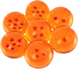 PLAYOLY New Dragonball Z Stars Crystal Glass Ball 7pcs with Gift Box, Large 76MM in Diameter