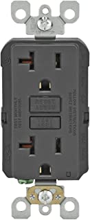 Leviton GFNT2-E Self-Test Smartlockpro Slim GFCI Non-Tamper-Resistant Receptacle with LED Indicator, 20-Amp, 10 Pack, Black