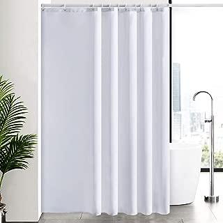 New Power Cortinas Baño Antimoho, Blanco Impermeable al Moho Cuarto de Baño Ultra Grande Tela Forro Lavable, Conjuntos con 12 Ganchos de Plástico-200x240cm.