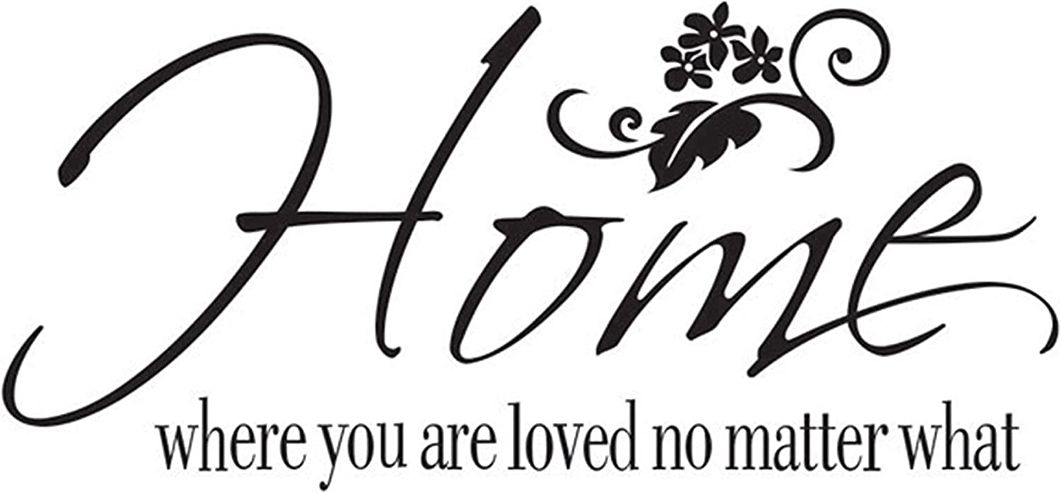 Wall Decal Sticker Quotes Home Where You are Loved No Matter What , Witwatia Removable Vinyl Wall Art Sticker, DIY Mural Sayings Home Decor Wallpaper for Living Room Bedroom