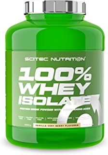 Scitec Nutrition 100% Whey Isolate, Flavored Drink Powder with Whey Protein Isolate, L-Glutamine, L-Arginine and Sweetener...