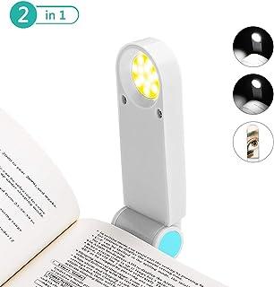 Carry stone Niedliches Clip-On Leselicht Led Buch Lampe Mini Clip Auf Biegsamen Reise Schlafzimmer Clamp Dorm Leselampe Geschenk Kreatives Geschenk Praktisch und N/ützlich