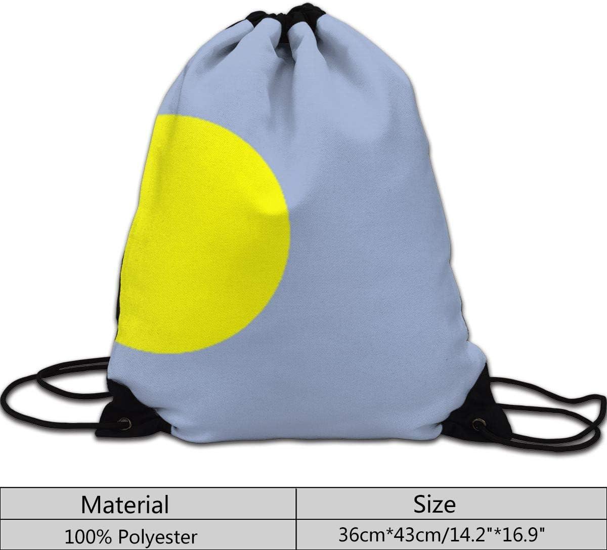Palau Flag Drawstring Bag Sport Gym Travel Bundle Backpack Pack Shoulder Bags