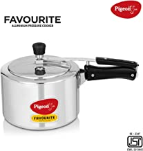 Pigeon by Stovekraft 12091 Favourite Aluminum Induction Base Pressure Cooker with Inner Lid, 3 Litres, Silver