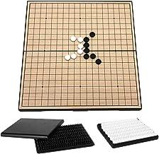 Demeras Go Game Set Weiqi Juegos educativos con Piedras de PVC y Tablero de ajedrez Plegable Juego de Estrategia de Tablero de ajedrez para ni/ños y Adultos