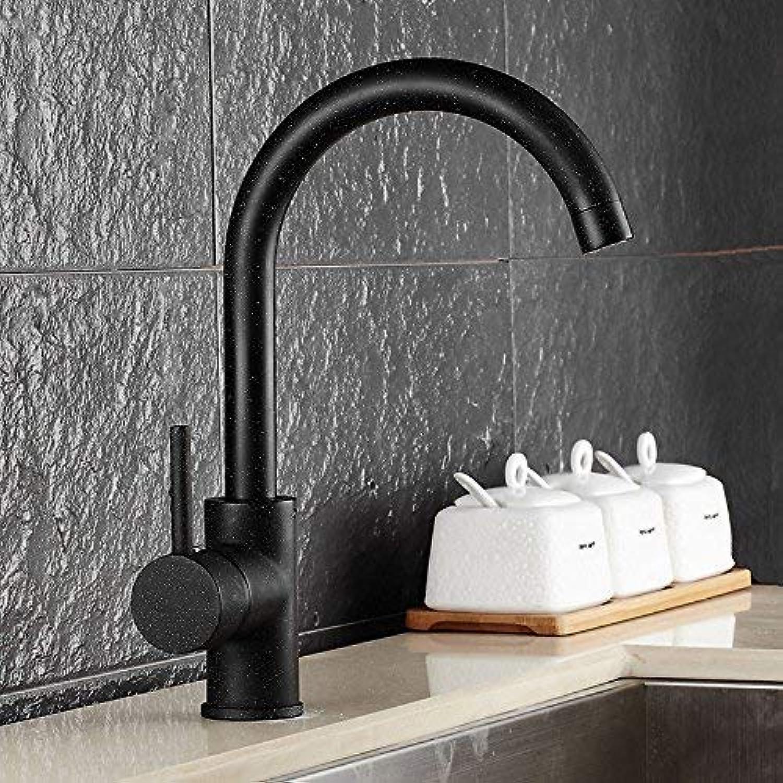 WYJW Kupfer schwarz Quarz küchenarmatur drehwinkel waschbecken waschbecken Wasserhahn
