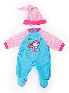 Bayer Design Bayer Design 84680AA Puppenkleidung für 40-46cm Puppen, Strampler, Mütze mit wunderschönen Meerjungfraumotiv, Outfit, türkis, rosa