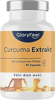 Gurkmejaextrakt + Ekologiskt Gurkmejapulver + Svartpepparextrakt (Piperin), 90 Kapslar, Kurkuminhalten i EN Kapsel motsvar...