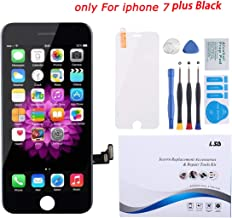 for iPhone 7 Plus Screen Replacement Black 5.5 inch, LCD Display Touch Screen Digitizer Frame Assembly Full Set with Screen Protector and Free Repair Tool Kits for iPhone 7 Plus LCD Screen Black