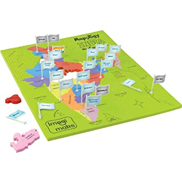 Imagimake: Mapology India with State Capitals –Learn Indian States Along with Capital- Fun Jigsaw Puzzle – Educational Toy for Kids Above 5 Years
