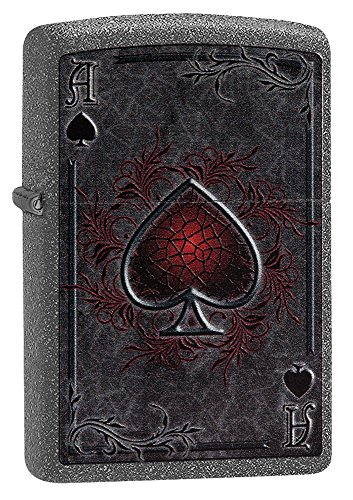 Zippo Ace Lighter, Metal, Grey, One Size