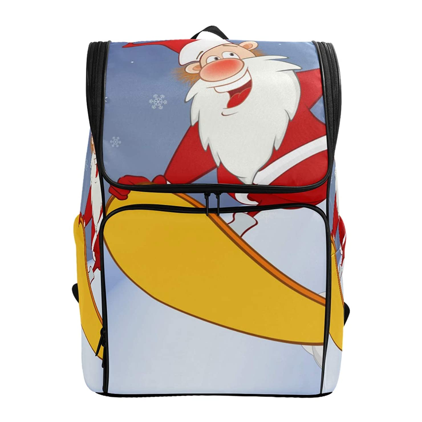 懸念申し立て広げるリュックレディース メンズ 黒 クリスマス サンタクロース 通勤 outdoor 軽量?大容量?防水加工 修学旅行 登山 ビジネス 薄型リュック pc リュック カジュアル 男女兼用