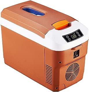 Portable Refrigerator 12 Litre Mini Car Fridge for Truck Rv Caravan and Boat 12v/24v/220v Compact Freezer Small Electric Cooler - Brown/Black