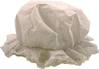 Rimi Hanger Childrens Girls Victorian Bonnet White Hat Adults Fancy Dress Accessory Maid MOP Hat