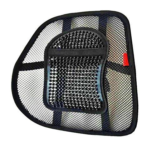 LORDOSENSTÜTZE mit einstellbarer Krümmung Rückenstütze Rückenkissen für Autositz oder Bürostuhl