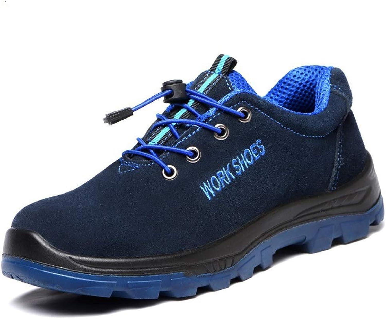 UICICI Arbeitsversicherung Schuhe Herrenarbeit Stahlkappe Anti-Smashing Anti-Smashing Anti-Smashing Schutzschuhe Anti-Rutsch-Sicherheitsschuhe (Farbe   A, Größe   43)  Modemarken
