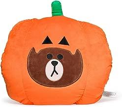 LINE FRIENDS Halloween Nap Cushion - Brown Character Soft Stuffed Pillow, Brown