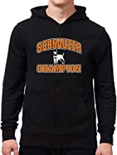 Eddany Schnauzer Champion Zip Hoodie