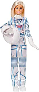 Barbie Astronaut Doll Wearing Space Suit and Helmet, Blonde, for 3 to 7 Year Olds​​​​