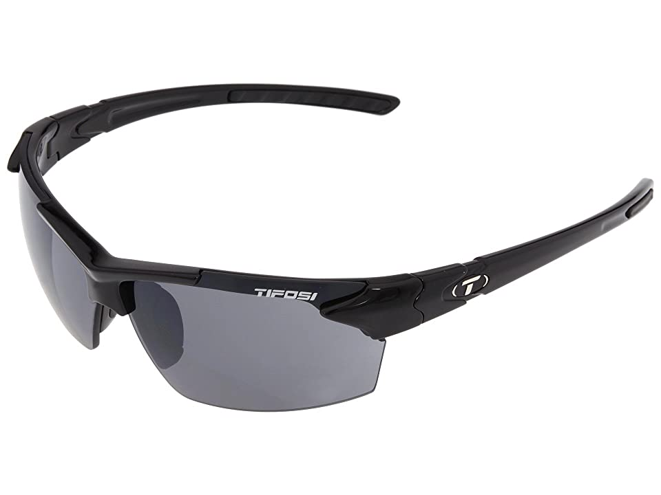 Tifosi Optics Jettm (Gloss Black) Athletic Performance Sport Sunglasses