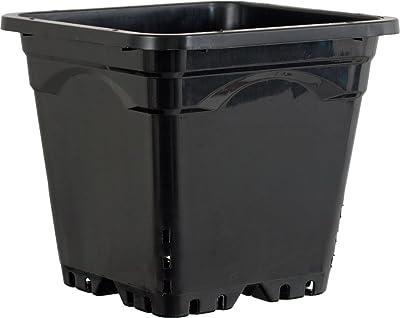 Active Aqua HG12X12SB Vaso Quadrato, 30,5x30,5 cm, Altezza 25 cm, 24 per confezione, Nero
