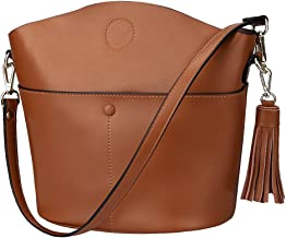 S-ZONE Women Small Cowhide Genuine Leather Crossbody Bag Shoulder Purse Handbag