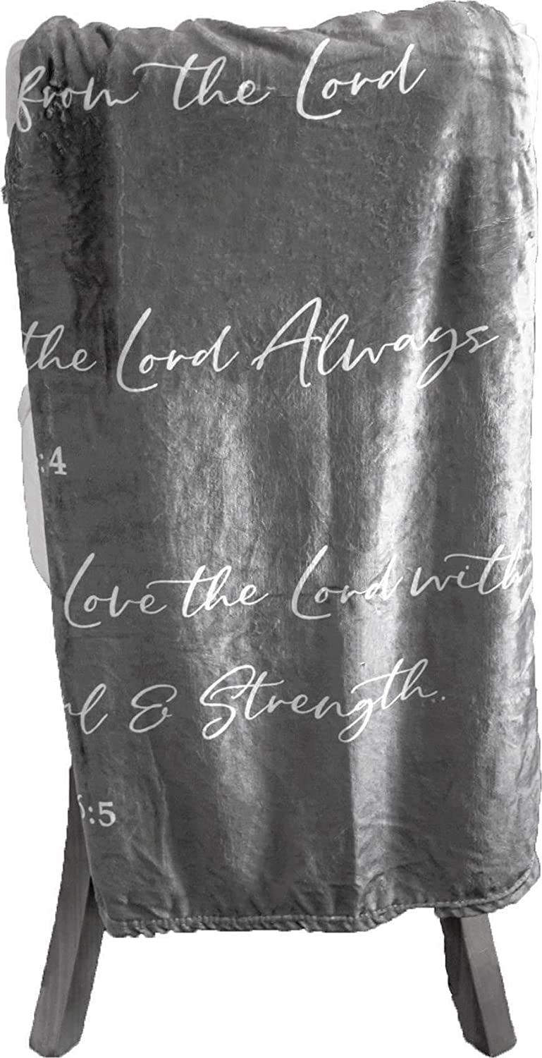Double Creek Lightweight Max 44% OFF Max 64% OFF Scripture Throw Blanket Inspirational V