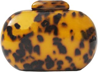New Fashion Women Acrylic Cute Round Leopard Print Evening Bag Woman Luxury Party Prom Handbag Causal Vintage Clutch